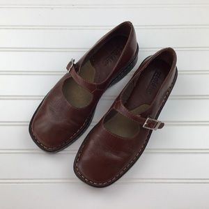 Azalea Brown Leather Mary Jane Loafer Shoe